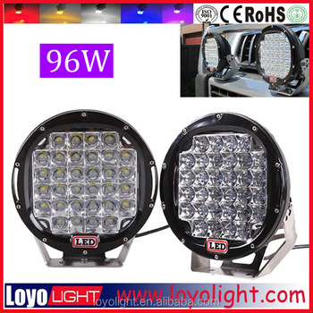 China price car roof lamp 4x4 work light offroad accesorios for jeep wrangler