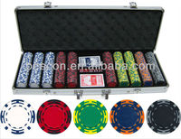14gram 500 piece Z Striped Clay Poker Chips set