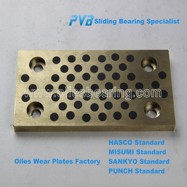 graphite plugged oiless bronze bush manufacturer, oiles slide guide bearing , C86300 cast sliding Bronze Plate