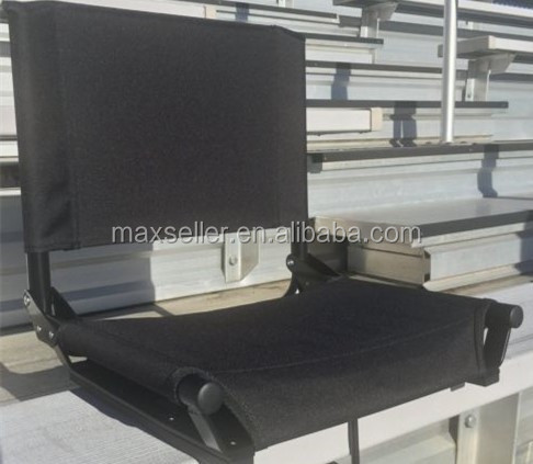 Bleacher Stadium Seat with Folding Chair Cushion ,Portable Padded Back seats