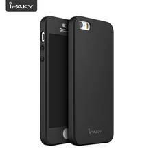 iPaky Original Brand Ultra Thin 360 Full Body Tempered Glass Screen Protector Cover Phone Case for iPhone5/5S/SE