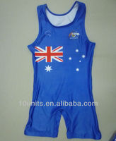 2014 sublimate custom professional wrestling singlets for men and women
