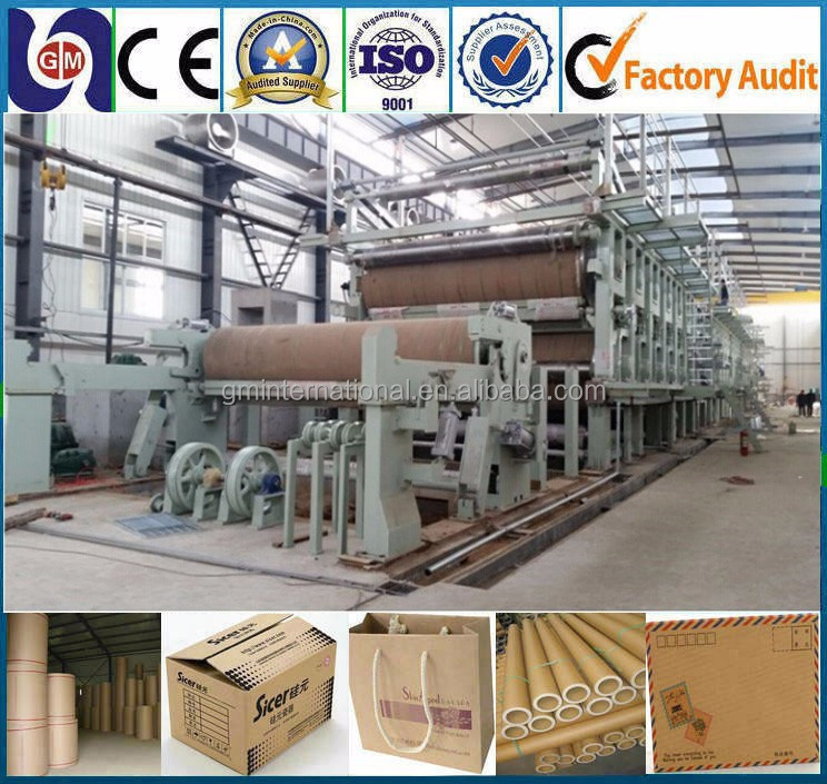 kraft paper/Cardboard Grey board paper machine price on sale,waste paper recycling machine,white board paper making machine