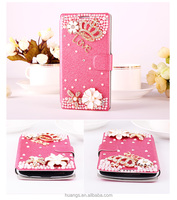 Romantique Cherry Bead Work Stander Flip PU Leather PC Inner Cover Case For LG G3 Case, for lg g3 cover leather back cover