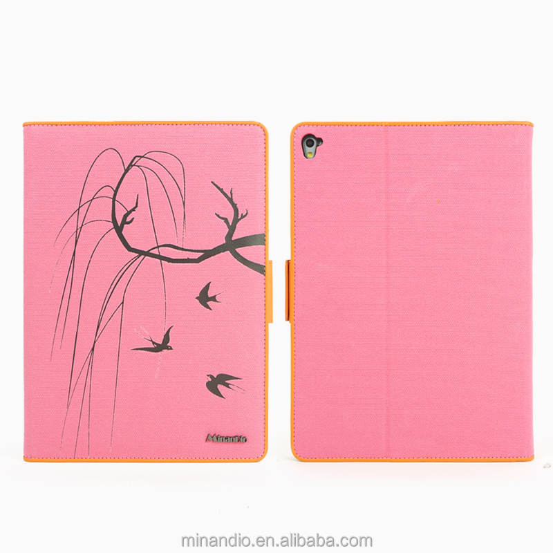 Young girls denim/canvas tablet case PU leather case For iPad Air 3 tablet cases