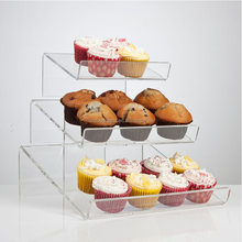 Manufacturer wholesale assembled clear acrylic Pop cake display stand