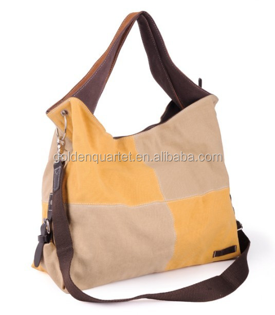 100% Cotton MESSENGER TOTE BAG, CANVAS PURSE AND HANDBAG(SA8000, BSCI, WCA audit factory)
