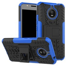 New hot in USA kickstand hyun pattern tyre armor mobile phone case for Motorola Moto E4 Plus