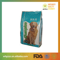 China supplier pet food/dog food packaging bag 5kg 10kg 20kg 25kg standing up pouch with ziplock