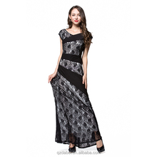 2018 long evening casual lace dress