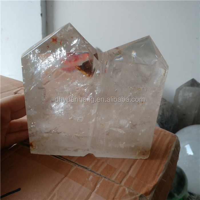 natural rock clear quartz crystal points siamesed crystal mountain healing wands