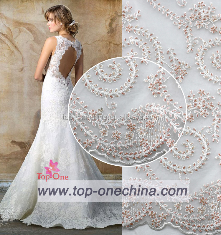 2016 wedding dress beaded french lace quality french net lace real korean design lace fabrics