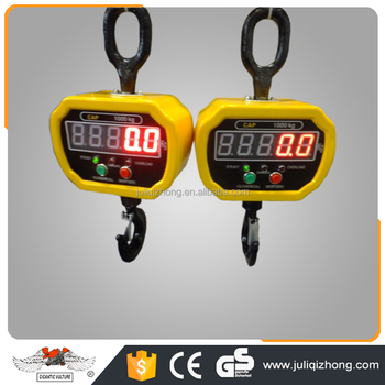 China load-bearing 1 ton Wireless Portable Electronic Hanging OCS diecast LED display digital crane scale