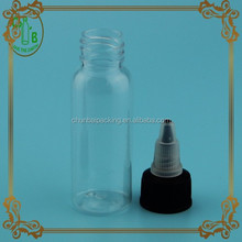 empty clear dropper glass bottle round Plastic pointed mouth cap