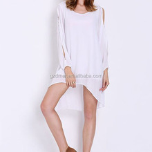 Women Loose fitted Asymmetric hem summer casual tunic dress