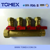 China manufacturer supply PEX pipe fitting 4 line water knockout trap ball valve