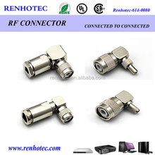 China factory supplier right angle N type plug connector adapter