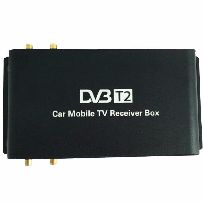 FHD 1080P DVB-T2 Car Digital TV Tuner with 4 Antennas Working at the Speed of 200 km/h