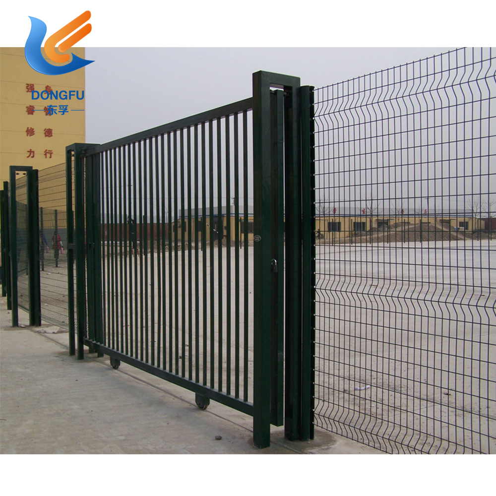 High qulity tubular steel fence panel /waterproof pvc coated wall boundary steel grills fence design