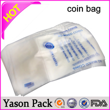 Best quality PE/PO material plastic coin bags for packaging