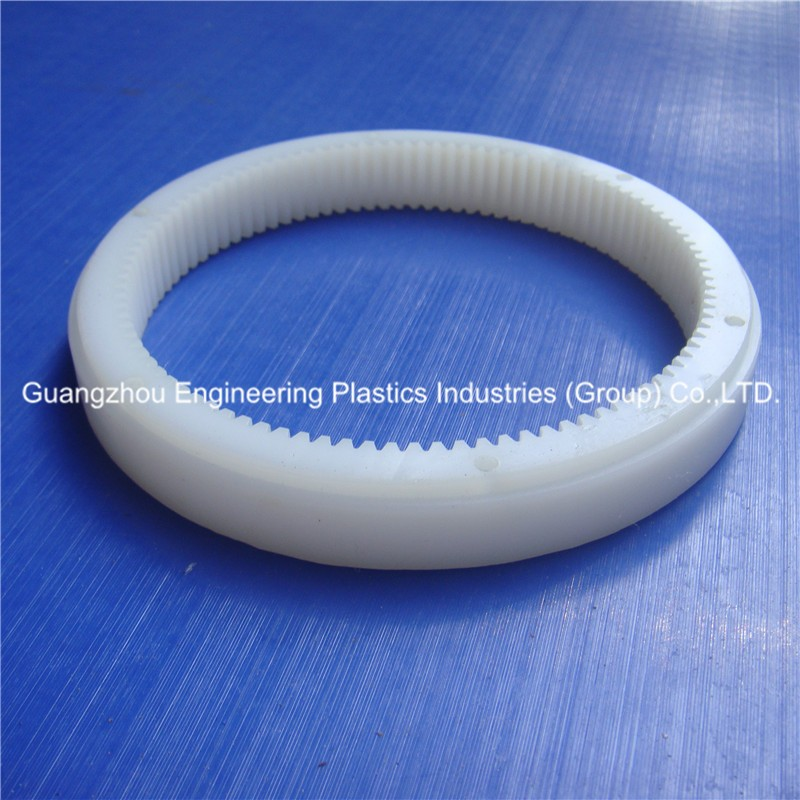 High performance and impact resistance white color plastic internal ring gear