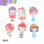 Fashion Cute Cartoon Convenient Wood Cosmetic Makeup Pocket Mirror For Girls