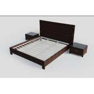 Rattan garden furniture set bed frame