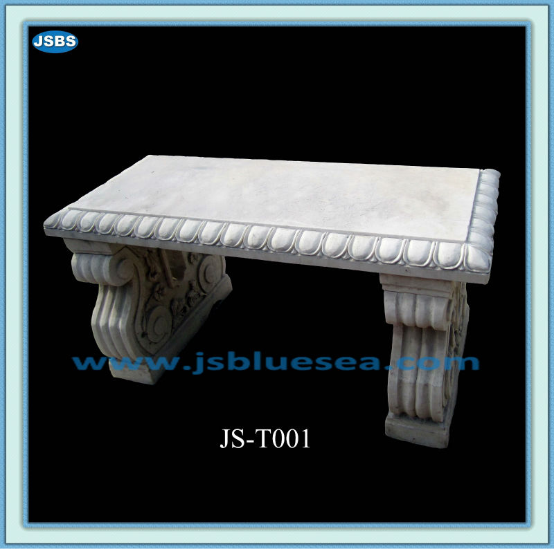 White Marble Carved Stone Landscape Stool