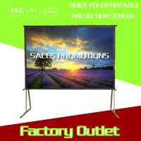 Factory price Fast folding projection Screen 16:9 250 inch quick foldable curved projector screen
