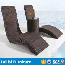 Import beach chaise lounge rattan double s sun loungers
