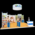 Simple aluminum 6x6 exhibition booth for trade show stand