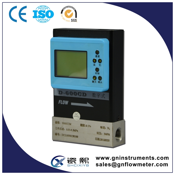 9 Year Gold Supplier Compressed Air Gas Mass Flow meter Controller