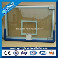 Top grade 12mm clear tempered glass for basketball board