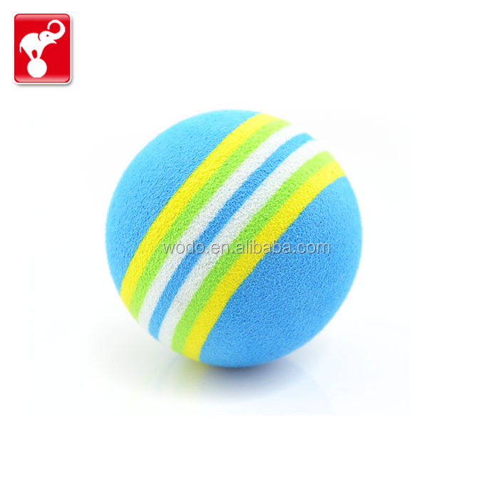 China OEM factory sports toy color eva foam anti stress ball toy golf ball rainbow