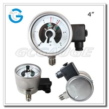 High quality ss explosion-proof type electric contact high pressure gauge with alarm