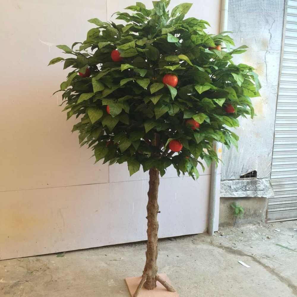 customized green artificial apple tree, decorative fake fruit trees