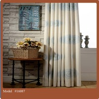 Polycotton fabric blackout window curtain with attached valance