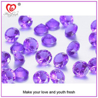 Hot Sale Synthetic Gemstone, Amethyst Round Brilliant Cubic Zirconia ,Semi-Precious Stone Akik Stone