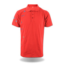 Wholesale clothing embroidery <strong>design</strong> red mens polo tshirts
