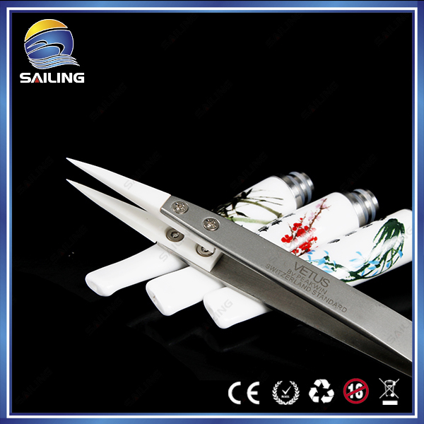 Sailing Hot sale Heat Resistant Ceramic tweezers, used for electronic cigarette rda atomizer to adjustable the coil