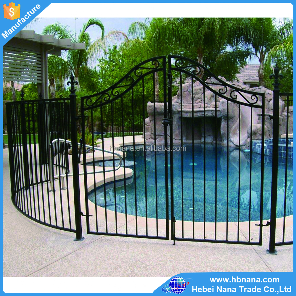 Outdoor simple steel gate / garden swimming pool fence gate