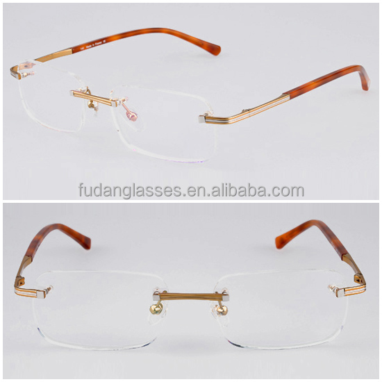 New Style 2014 Eyeglasses CT T8160032 Classical Optical Glasses Frame Wholesale Alloy Rimless Frames