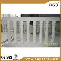 Chinese white marble stone handrail stair