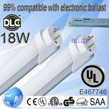 99% compatible with electronic ballasts 2011 new led t8 tube 100-277V UL DLC