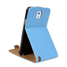 Plain Stand Real Genuine Leather Flip Case for Samsung Galaxy Note 3