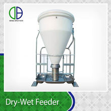 Small MOQ Stainless Steel Pig Farm Equipment Dry Wet Feeder