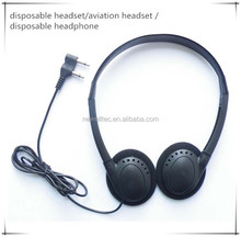 Disposable Headset /Aviation Headset /Disposable Headphone For Airplanes