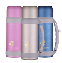 Vacuum stainless steel travel bottle insulated water flask mug