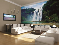 2016 living room wallpapers Waterful wallmurals Interior 3d wallpapers