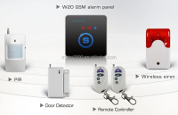 GSM smart key home alarm security system W20
